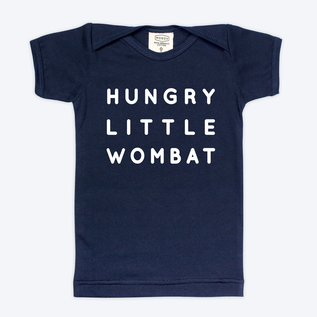 Hungry Little Wombat Organic Baby Navy T-shirt