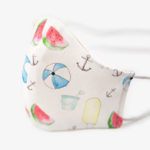 Children's Organic Cotton Face Mask - summer print