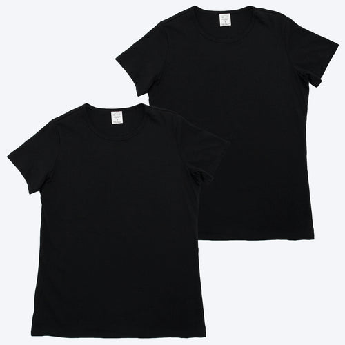 Womens Organic T-shirt Black 2 PacK