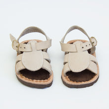 Load image into Gallery viewer, Beige Leather Sandals
