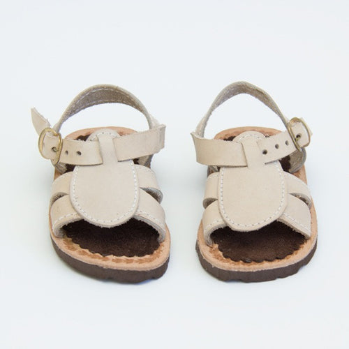 Beige Leather Baby Sandals