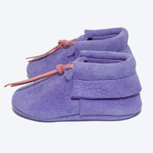 Purple Suede Booties