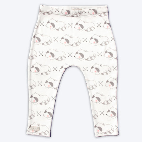 Sleepy Raccoon Organic Baby Leggings