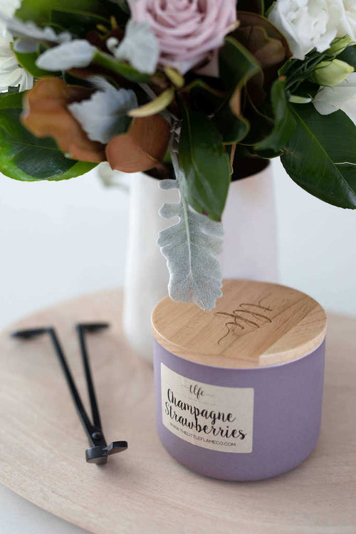 Champagne Strawberries Canister Candle