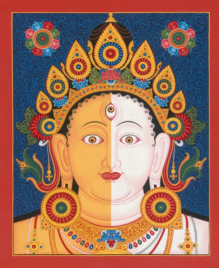 Heads I Tibet Thangka Nepal Paubha by Mukti Singh Thapa at Mahakala Fine Arts