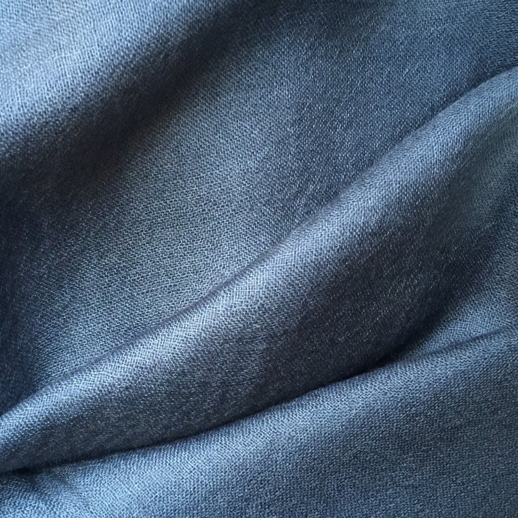 Handmade dark grey luxury cashmere scarf from Himalaya at Mahakala Fine Arts