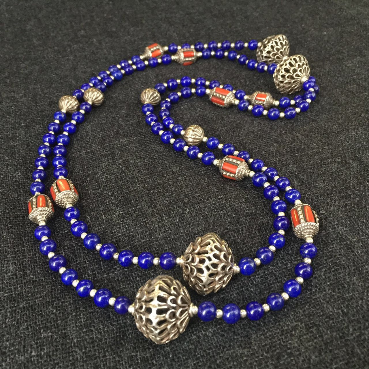 jewelry at plated turquoise coral products gold lapis silver handmade and turkoman necklace fine antique mahakala img arts