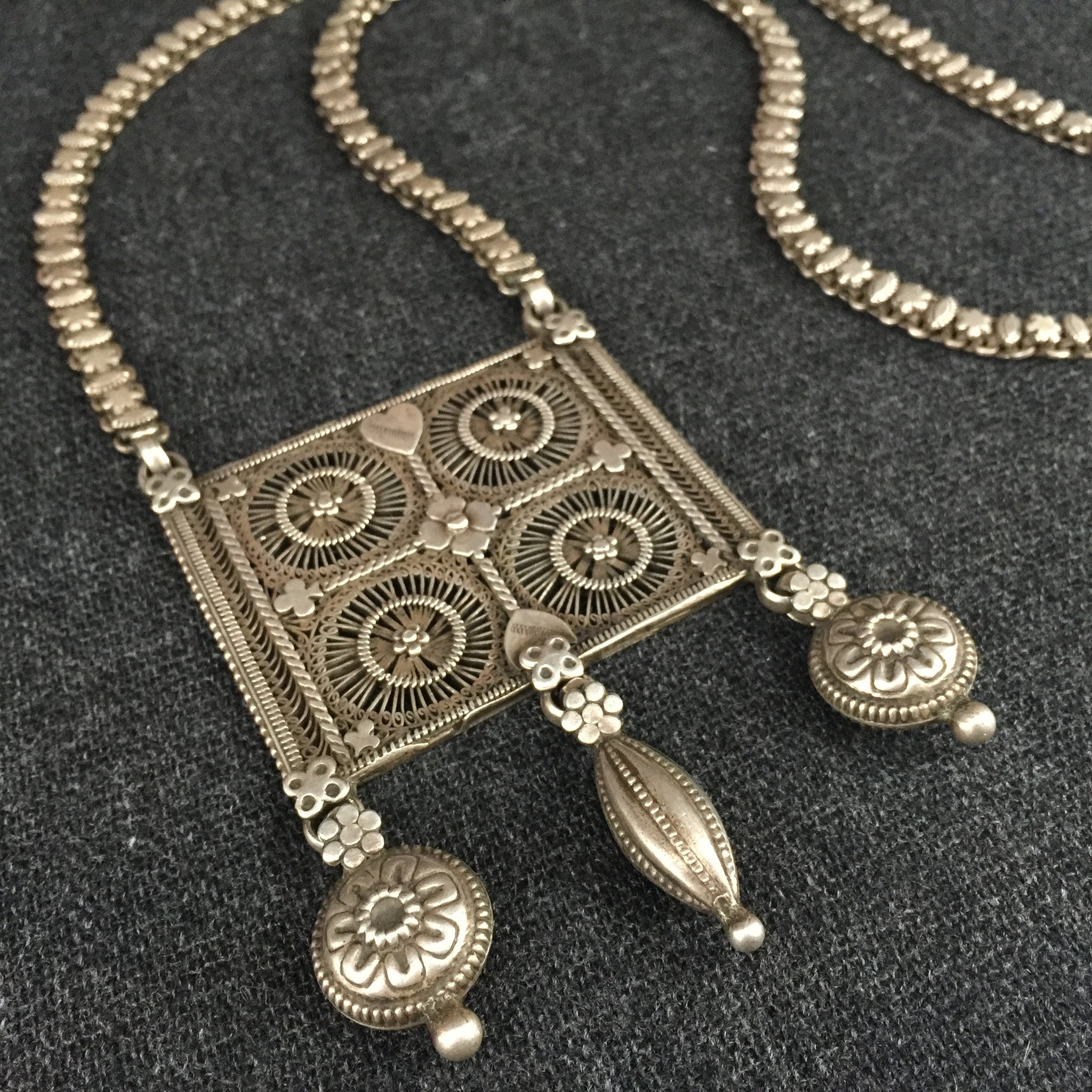lotus mandala langhong spiritual necklace silver zenheavens retro om products jewelry geometry religious pendant antique tibetan tibet amulet