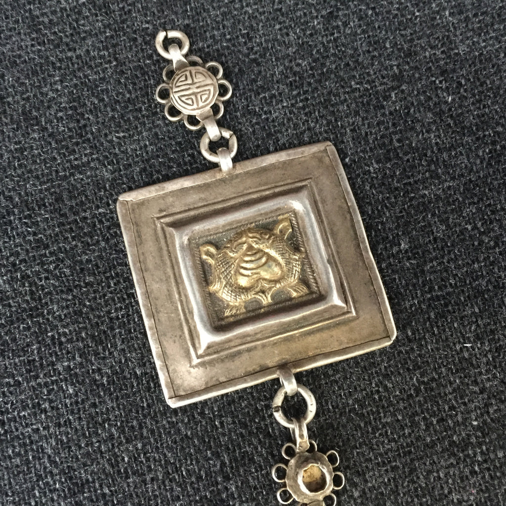 Antique Tibetan Handmade Silver Pendant Jewelry at Mahakala Fine Arts