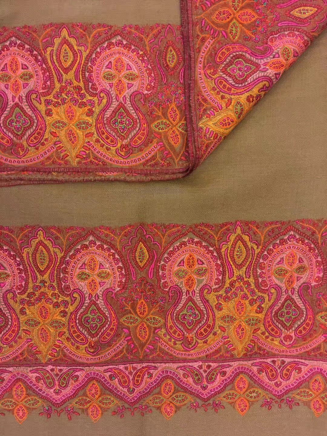 7dc9b7a28e ... Hand Embroidered Pashmina Shawl from Kashmir ...