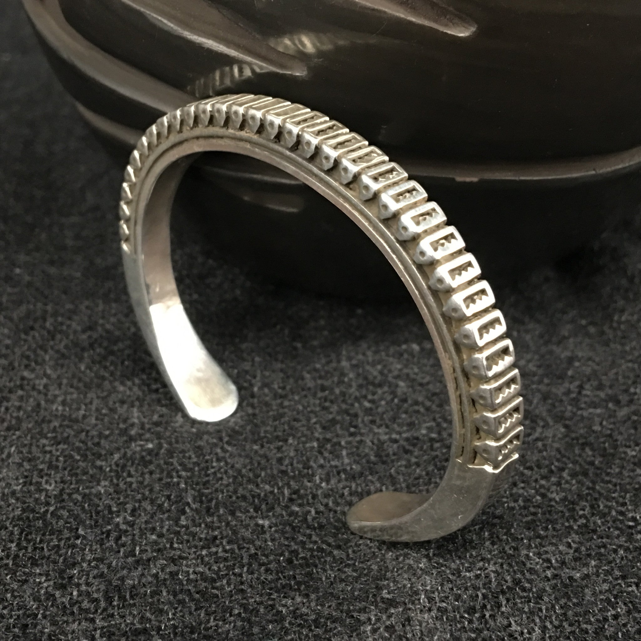 by yellowhorse silver navajo sterling american artie artist cuff photo bracelet native indian jewelry product