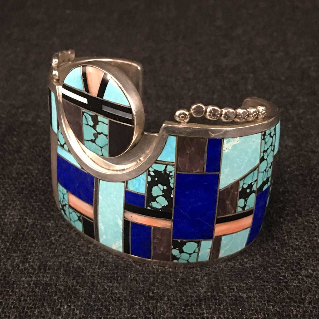 Native American Zuni Indian handmade sterling silver bracelet by Yazzie