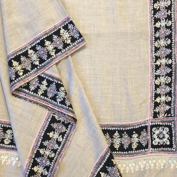 Hand Embroidered Pashmina Shawl from Kashmir