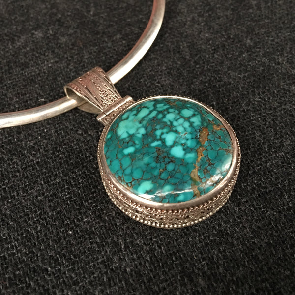 artisan natural com at necklace pendant silver turquoise buy online
