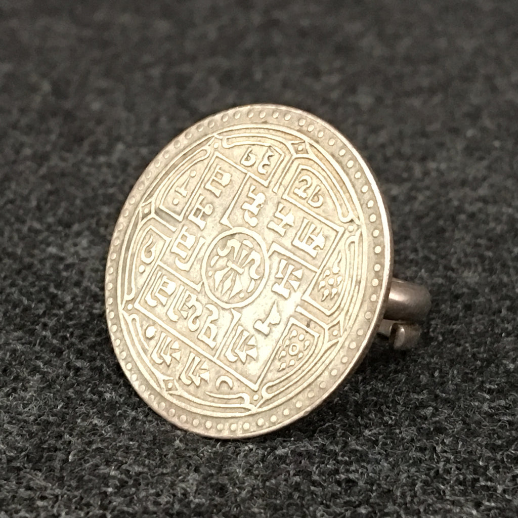 Antique Nepali Silver Coin Ring at Mahakala Fine Arts
