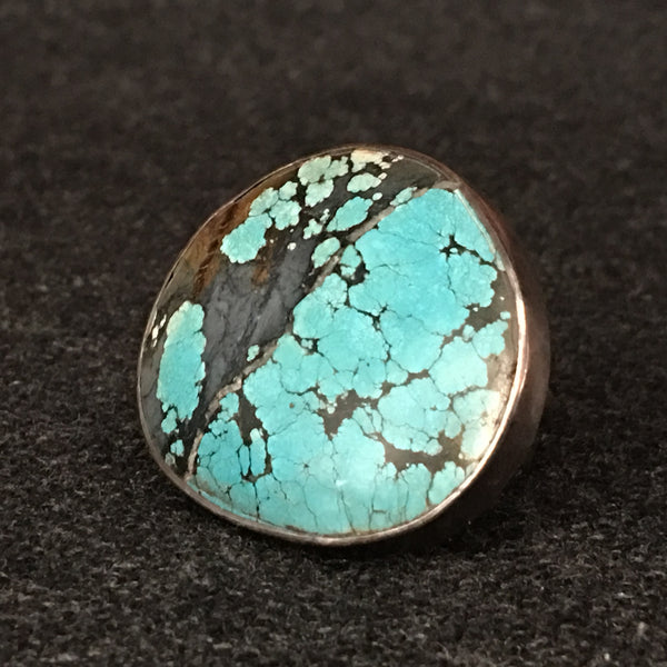 Handmade Himalayan Turquoise and Silver Ring Jewelry at Mahakala Fine Arts