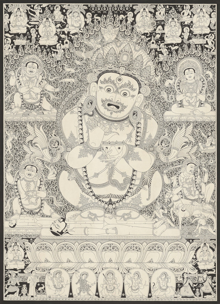Mahakala Buddhist thangka painting by Mukti Singh Thapa at Mahakala Fine Arts