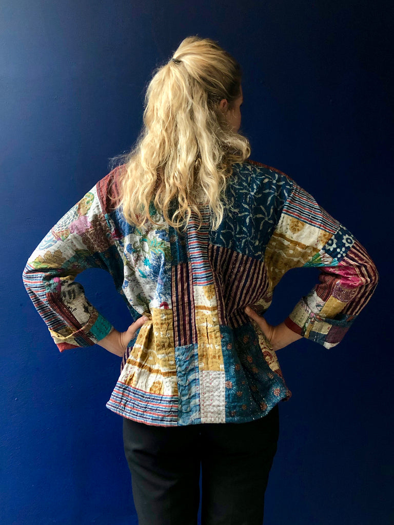 Kantha Quilted Jacket - Colorful