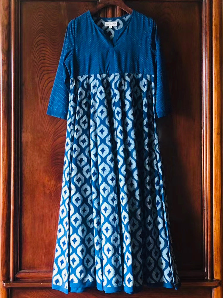 Women's Organic Cotton Handmade Indigo Dress