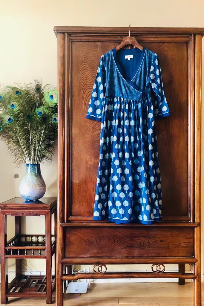 Women's Handmade Organic Cotton Ladakhi Indigo Dress