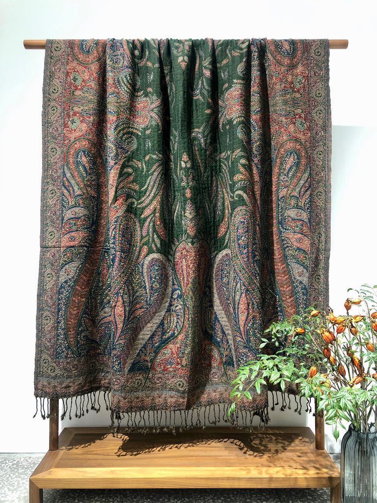 Kashmir Wool Blanket Bedspread Throw