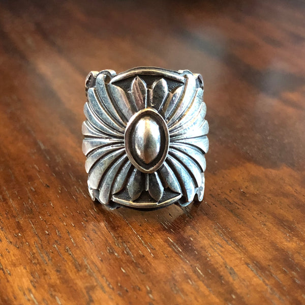 Hand Stamped Sunburst Ring by Sunshine Reeves