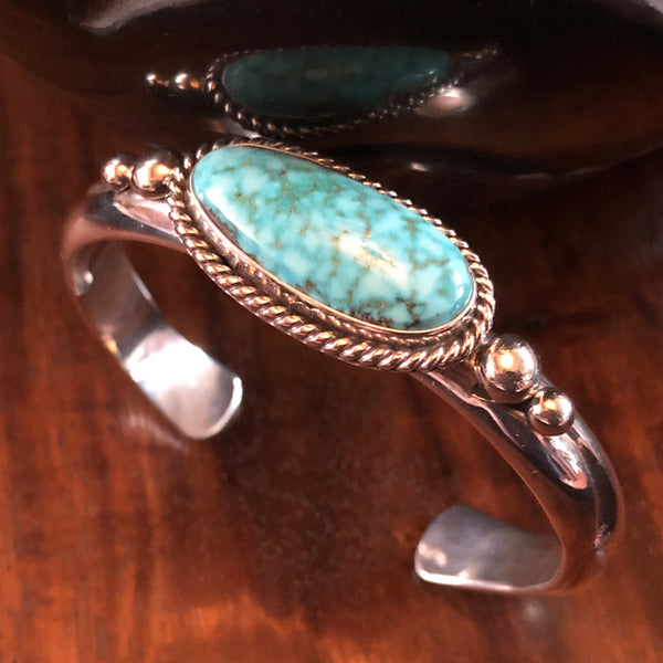 Native American Turquoise Bracelet by Albert Lee