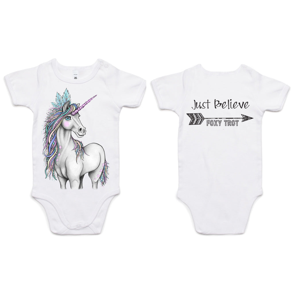Just Believe Unicorn 100% Cotton Onesie
