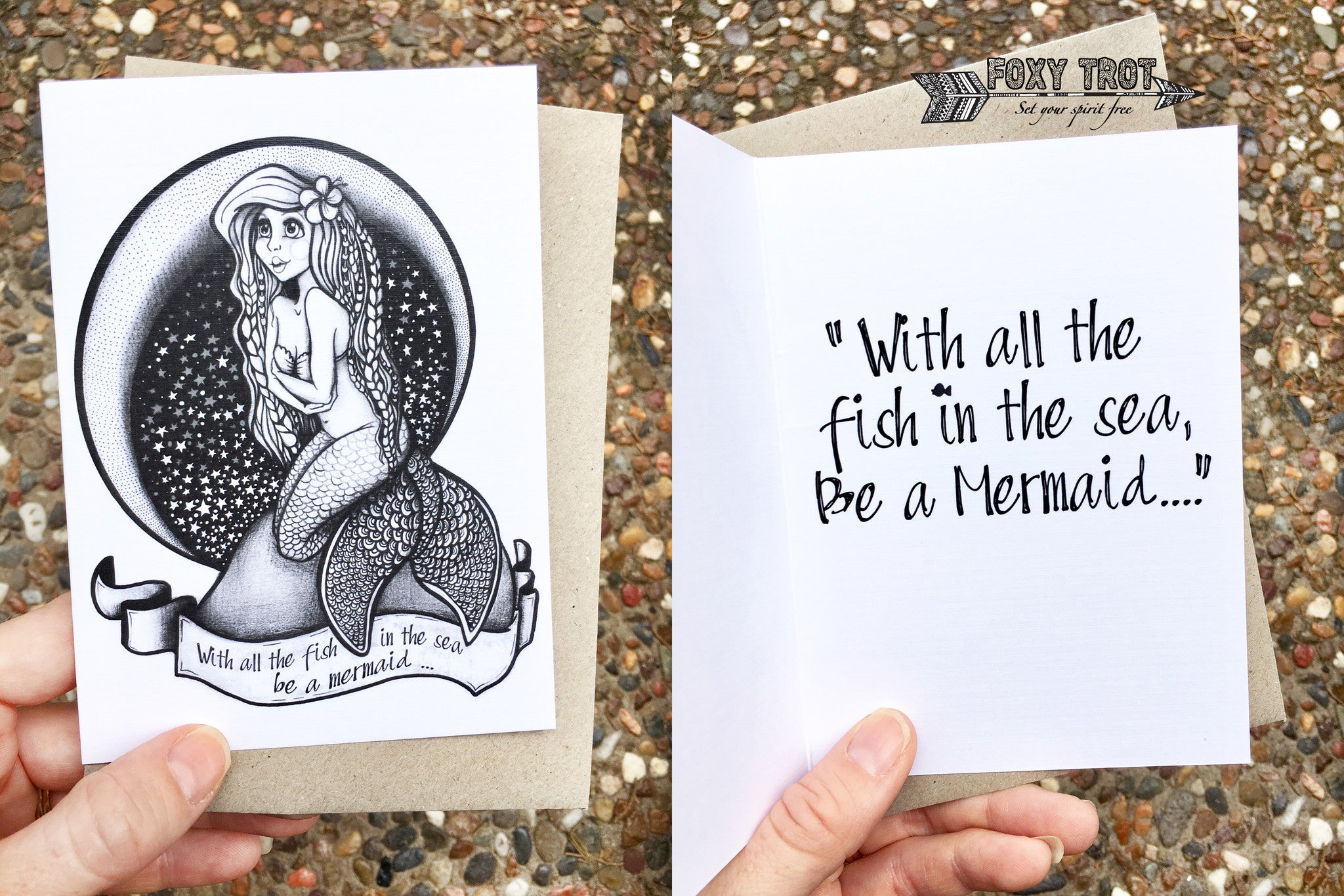Mermaid Inspirational Card