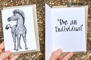 Zebra Inspirational Card