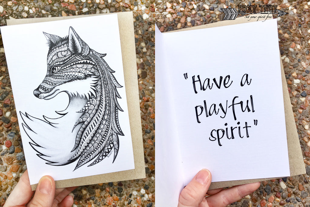Fox Inspirational Card