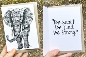 Elephant Inspirational Card