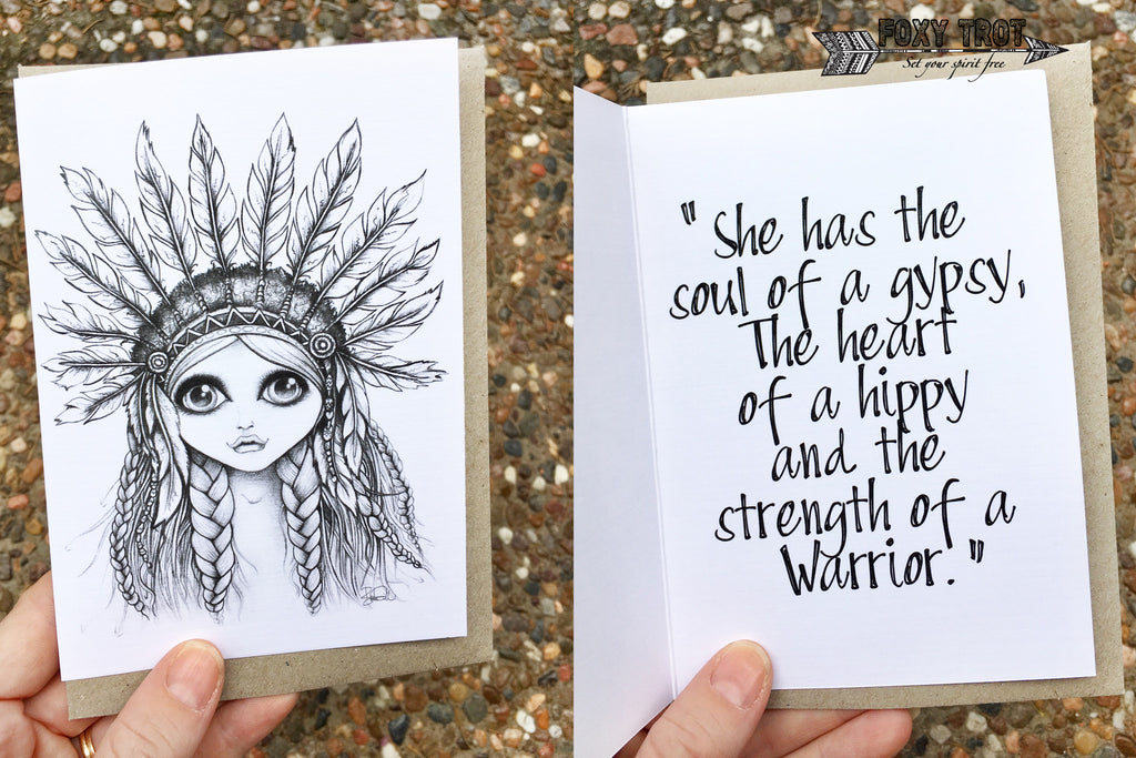 Warrior Princess Inspirational Card