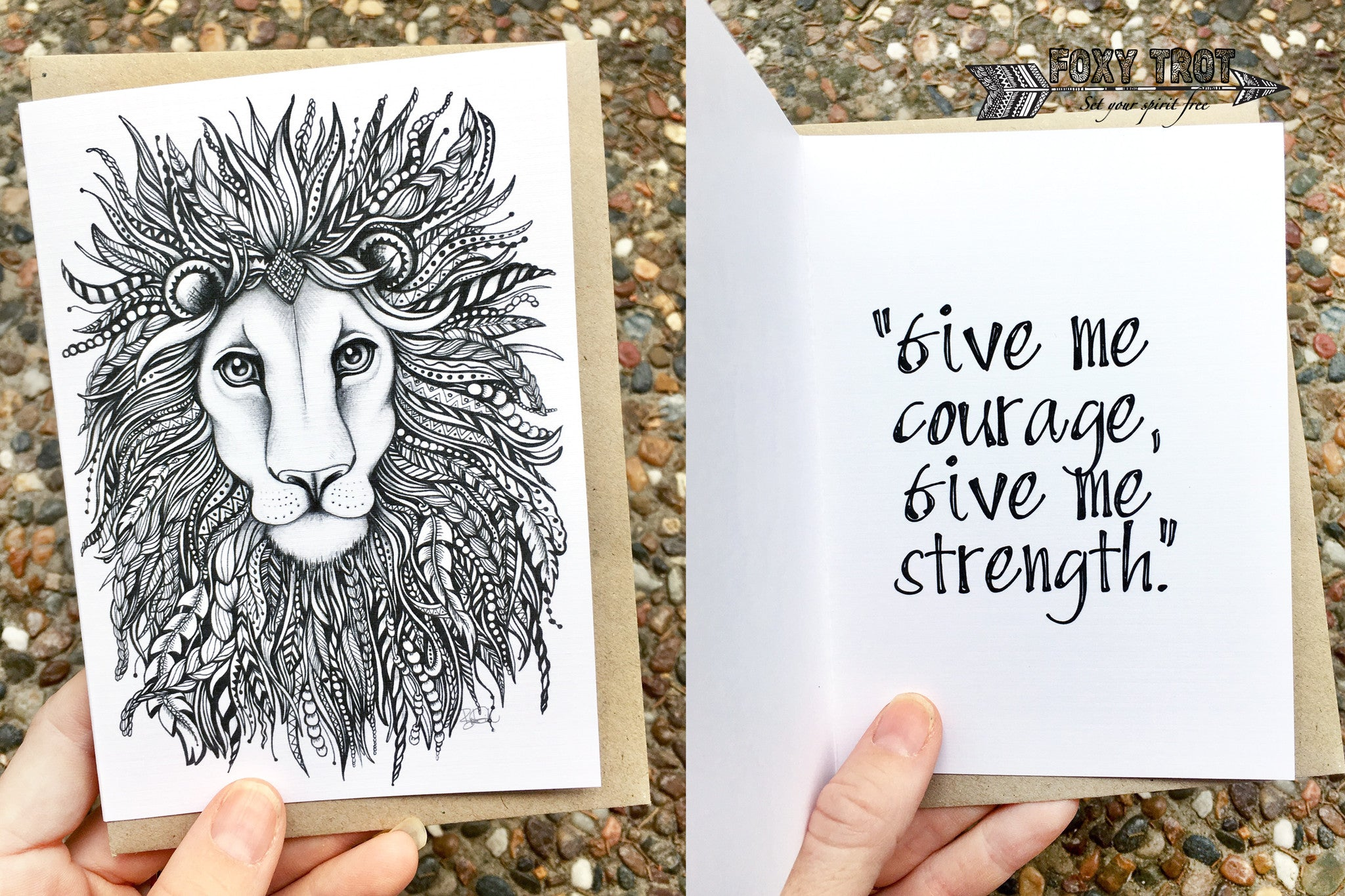 Lion Inspirational Card