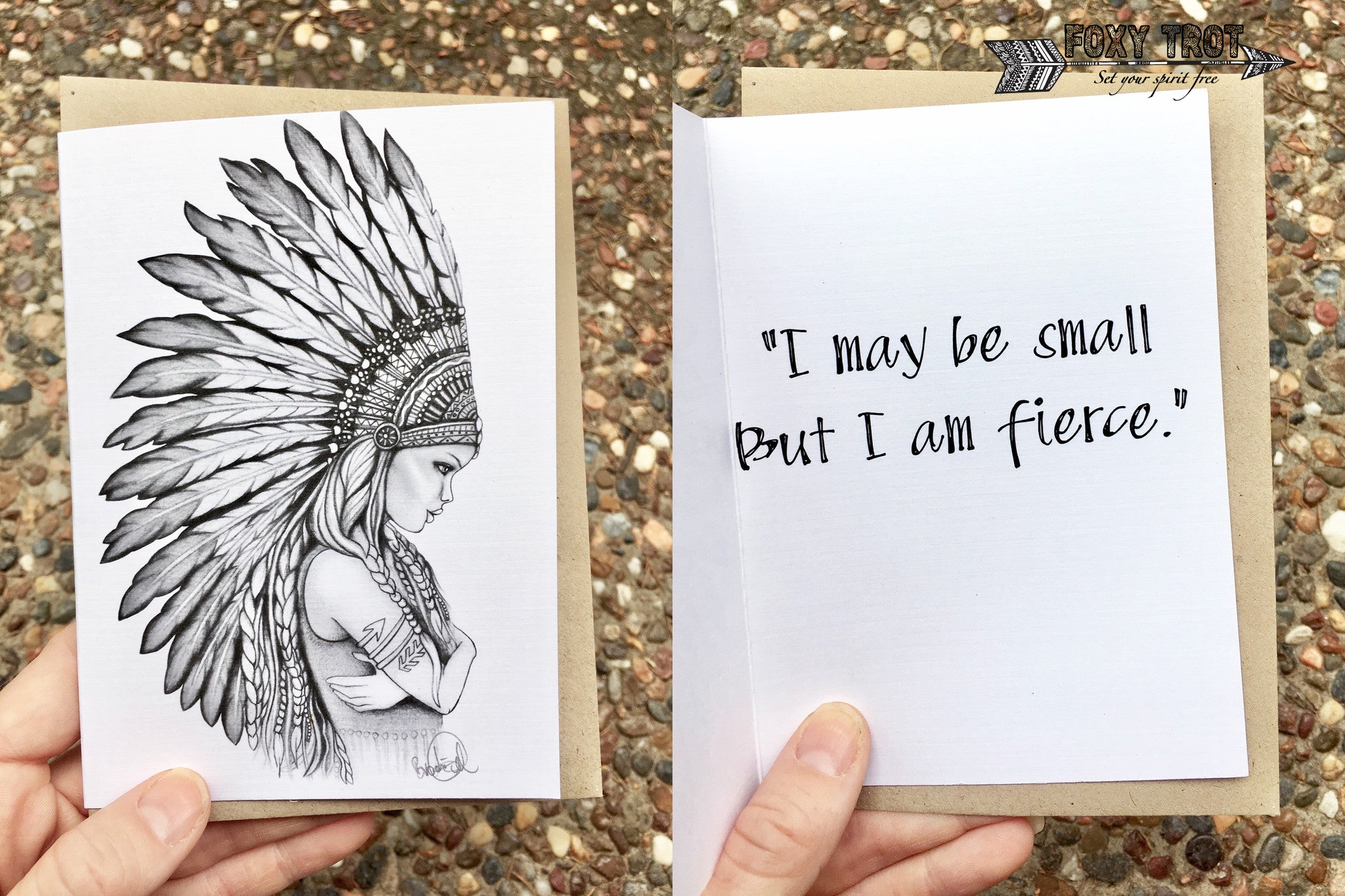 Small But Fierce Inspirational Card