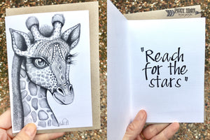 Giraffe Inspirational Card