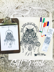 Dreamcatcher Wolf Gift Pack
