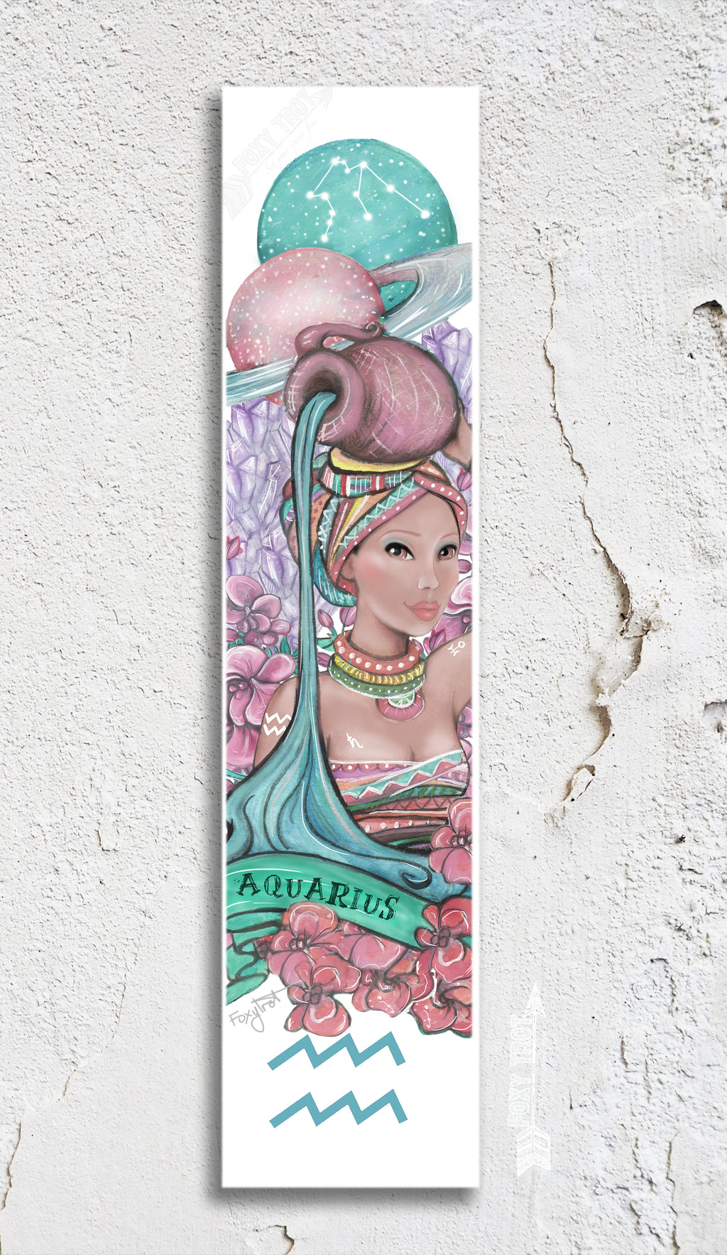 Zodiac Aquarius Bookmark