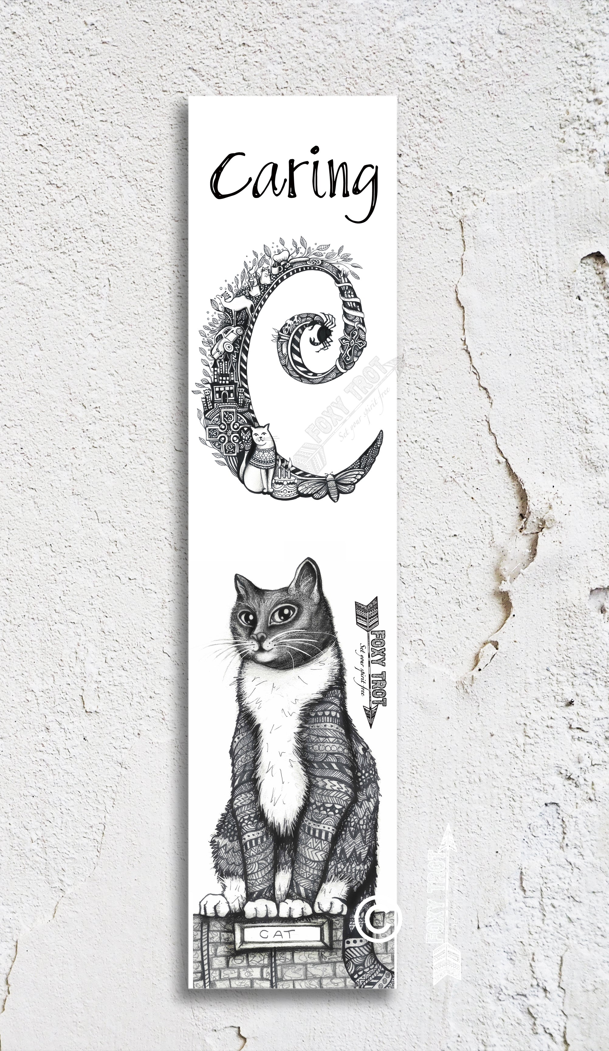 Inspirational Alphabet Bookmark C