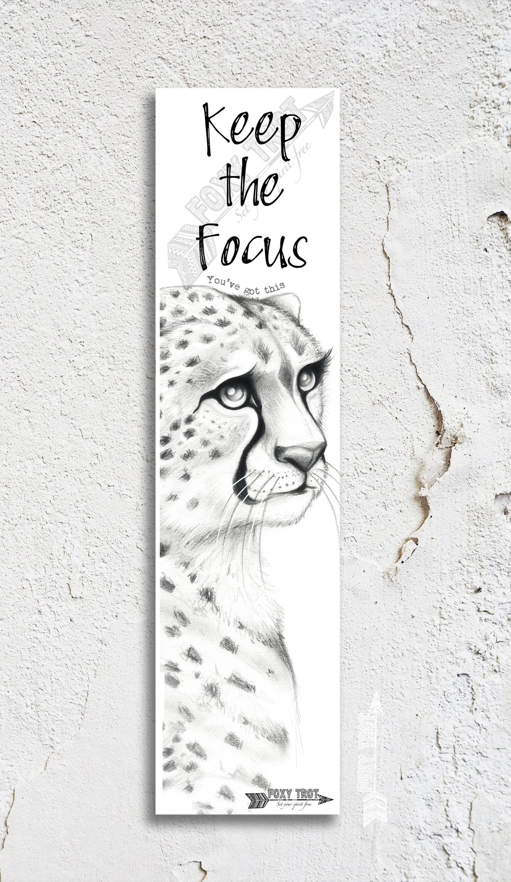 Mumma Cheetah Inspirational Bookmark