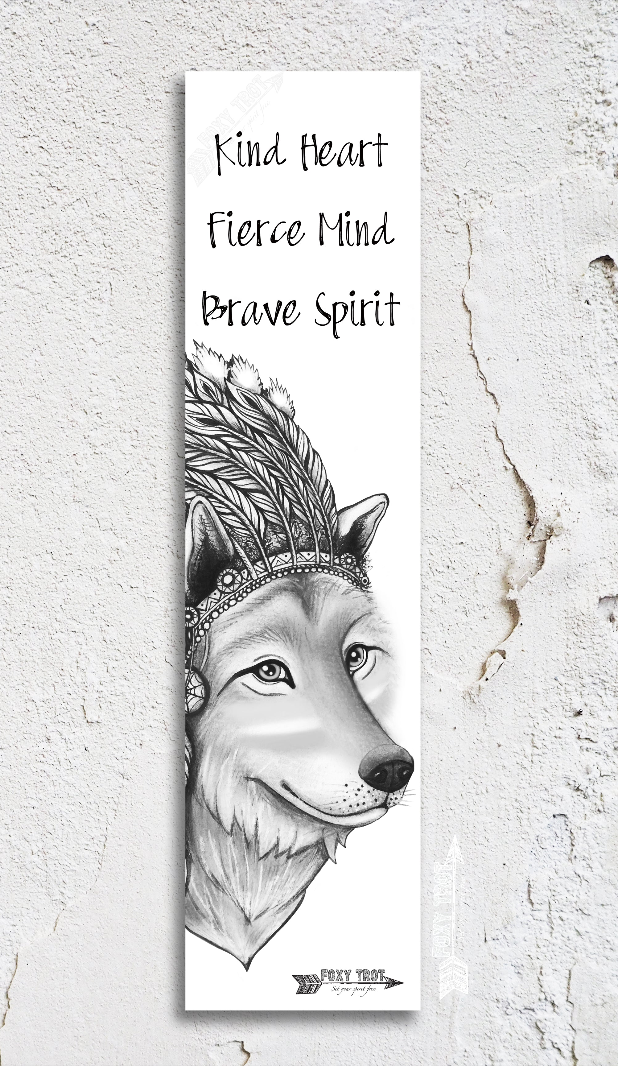 Chief Wolf Inspirational Bookmark