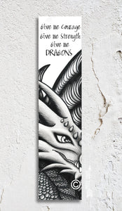 Dragon Inspirational Bookmark
