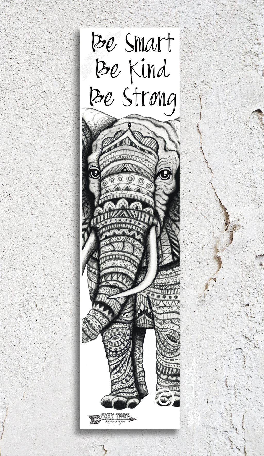 Elephant Inspirational Bookmark