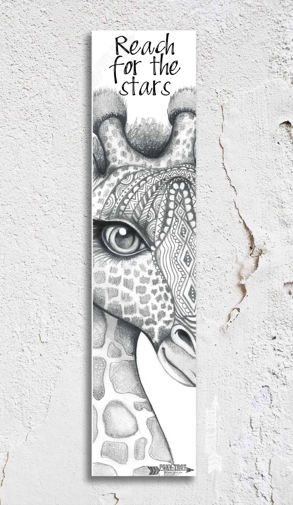 Giraffe Inspirational Bookmark