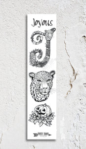 Inspirational Alphabet Bookmark J