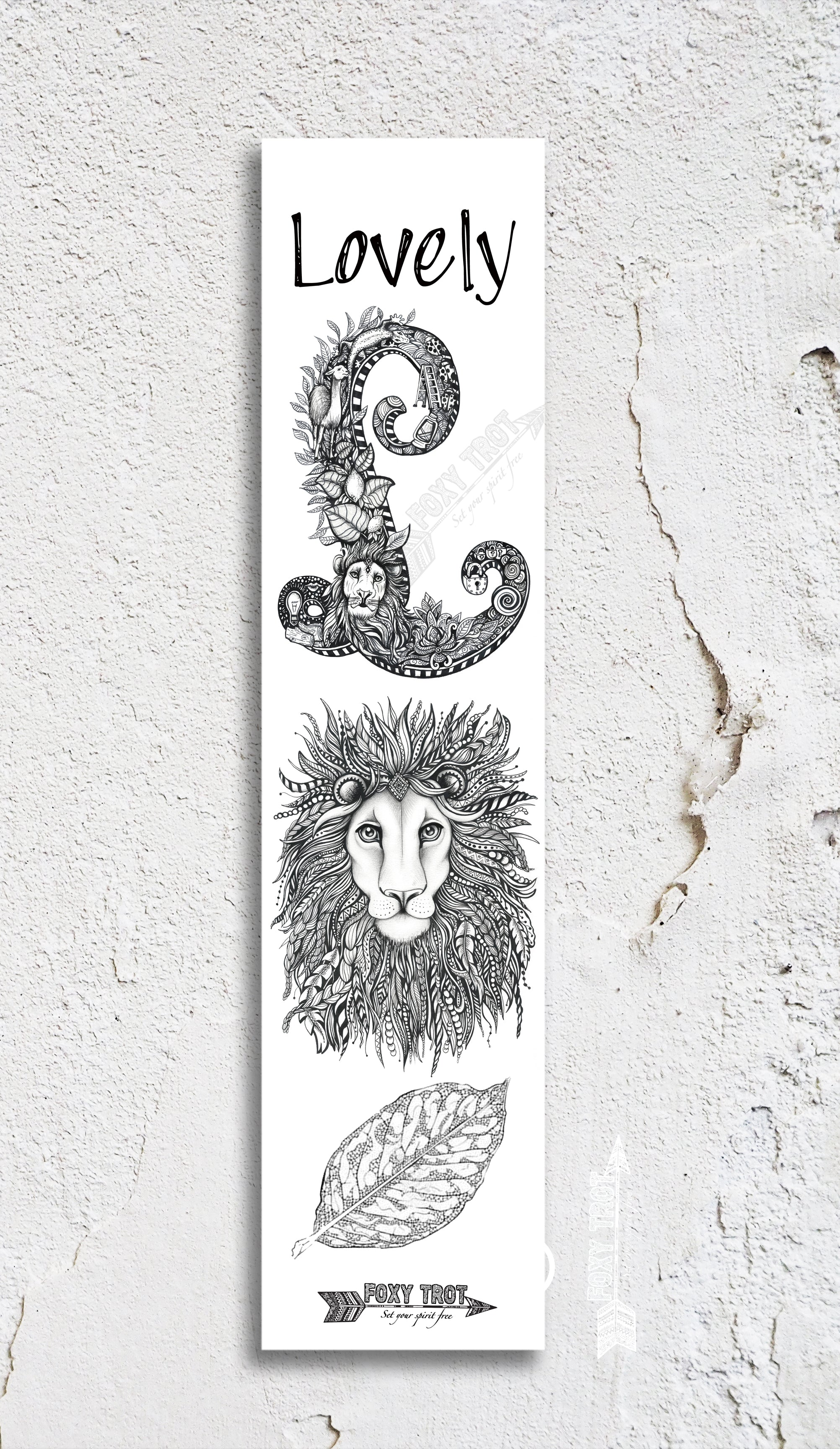 Inspirational Alphabet Bookmark L