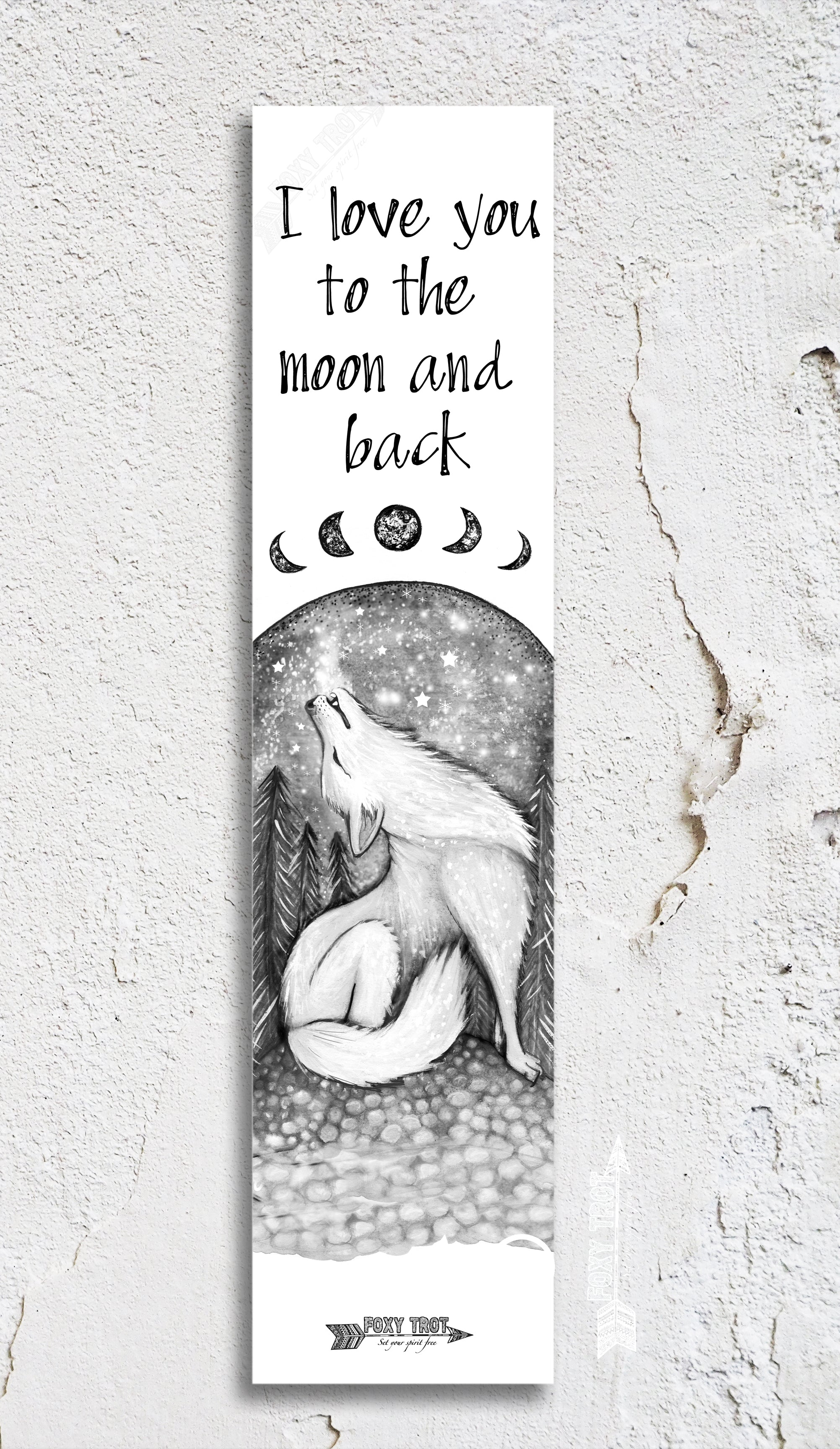 Moon and Back Inspirational Bookmark