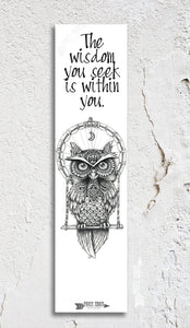 Dreamcatcher Owl Inspirational Bookmark