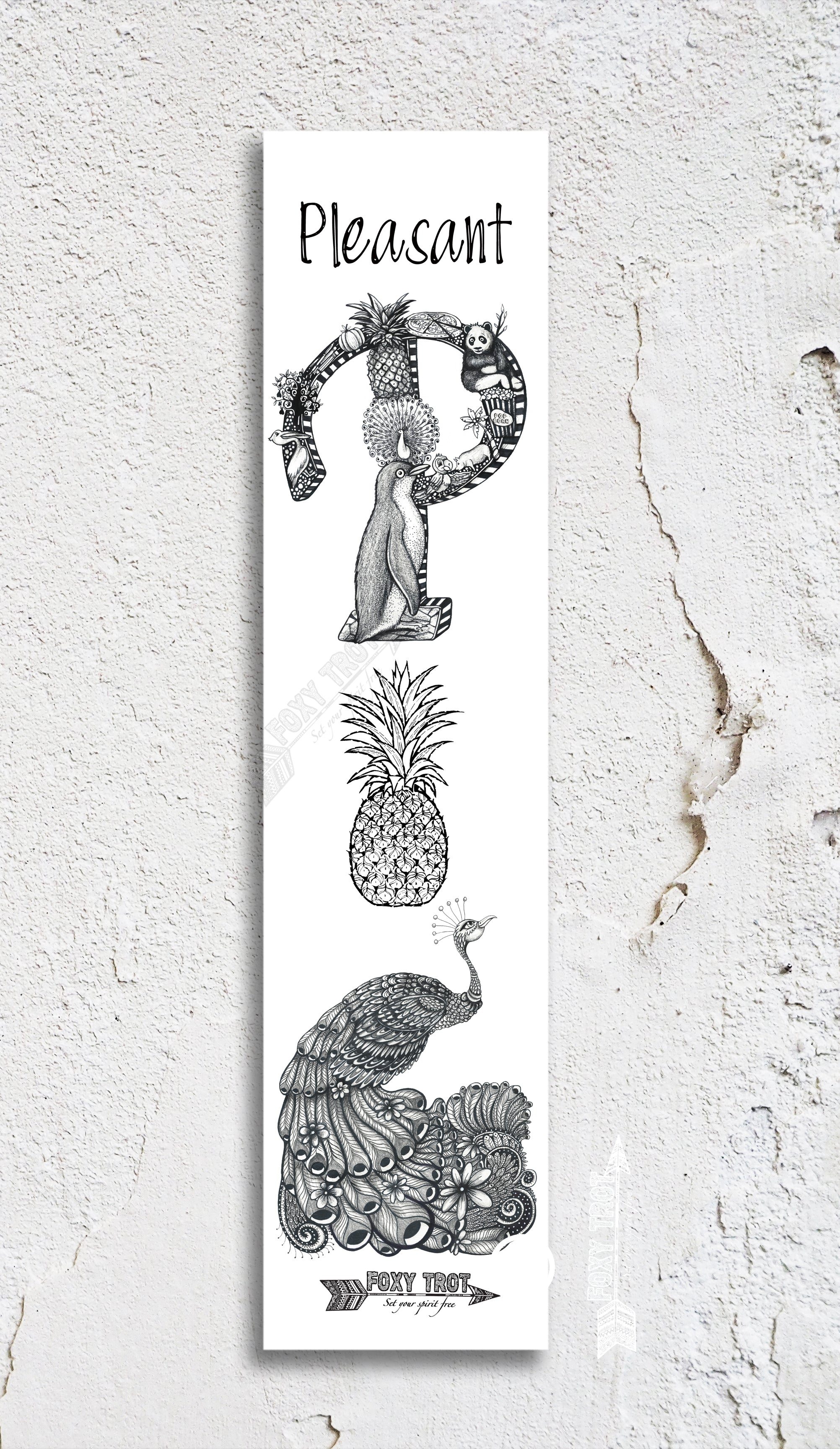 Inspirational Alphabet Bookmark P