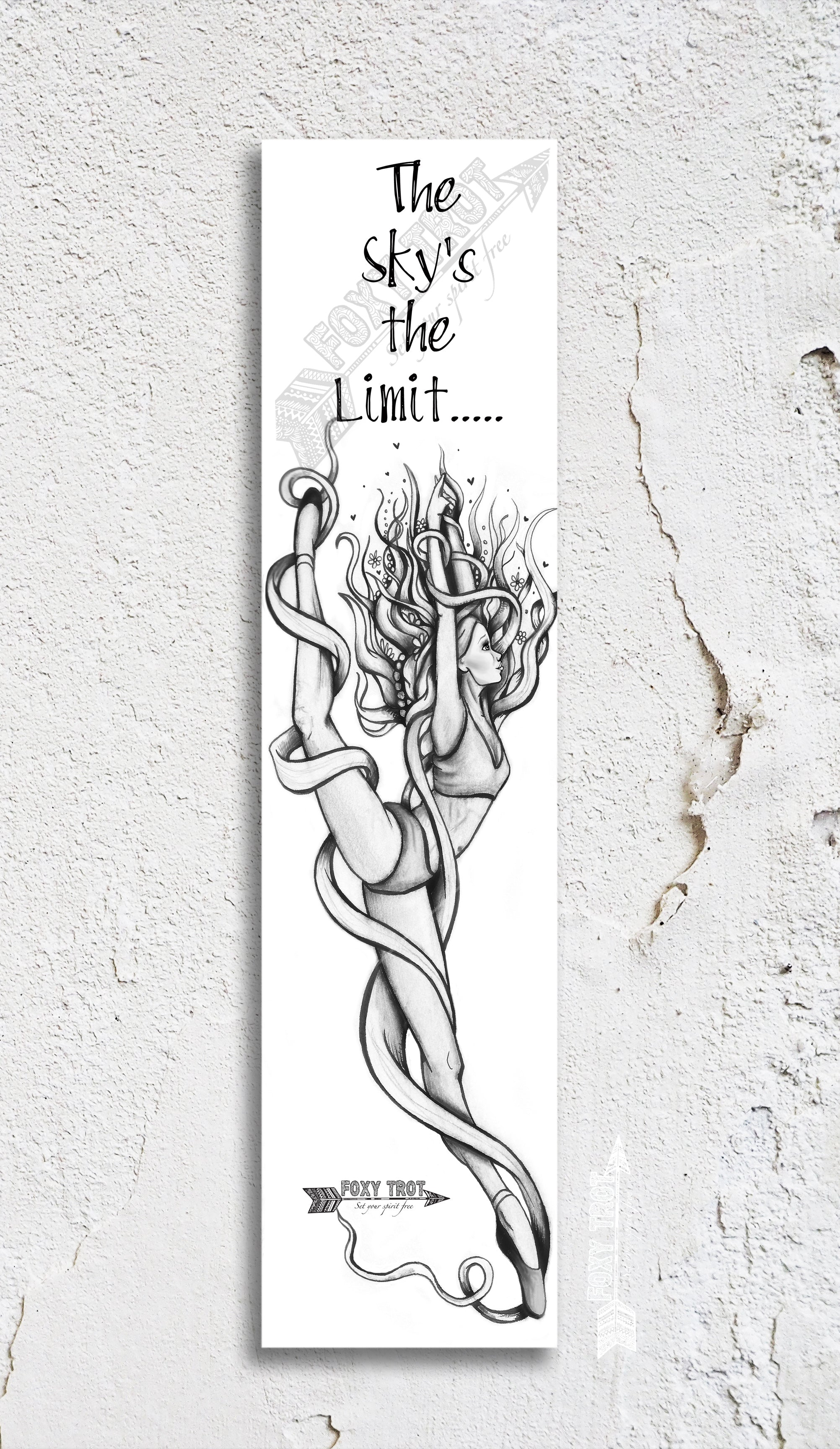 Sky's The Limit Inspirational Bookmark